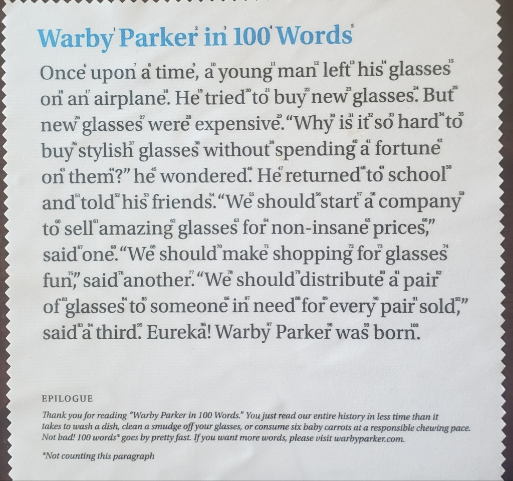 how warby parker delivers on the promise of their brand