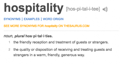 hospital vs hospitality